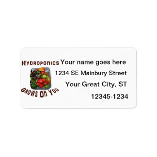 Hydroponics Grows On You Canvas Peppers Label