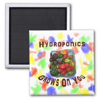 Hydroponics Grows On You Canvas Peppers Fridge Magnet