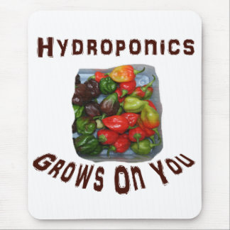 Hydroponics Grows On You Canvas Peppers Mouse Pad