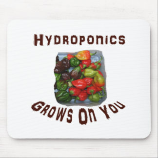 Hydroponics Grows On You Canvas Peppers Mousepad