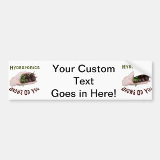 Hydroponics Grows On You Chocolate Habanero Car Bumper Sticker