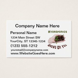 Hydroponics Grows On You Chocolate Habanero Business Card