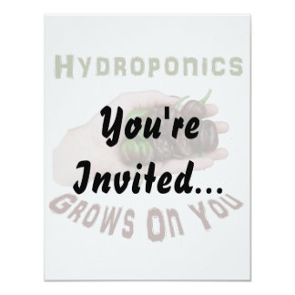 Hydroponics Grows On You Chocolate Habanero Card