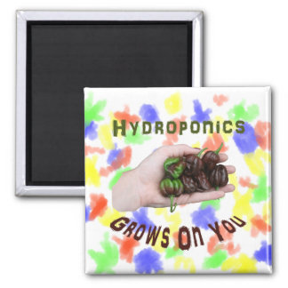 Hydroponics Grows On You Chocolate Habanero Refrigerator Magnet