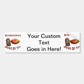 Hydroponics Grows On You habanero fingers Car Bumper Sticker