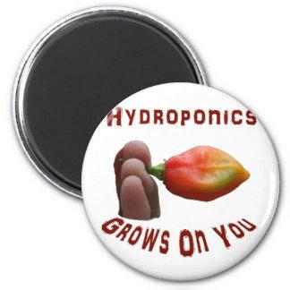 Hydroponics Grows On You habanero fingers Fridge Magnet