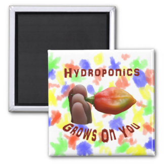 Hydroponics Grows On You habanero fingers Refrigerator Magnets