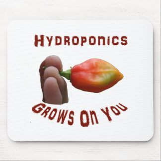 Hydroponics Grows On You habanero fingers Mouse Pad