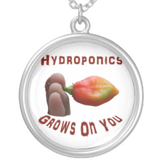 Hydroponics Grows On You habanero fingers Custom Necklace