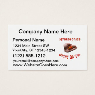 Hydroponics Grows on you Habanero Pepper Hand Business Card
