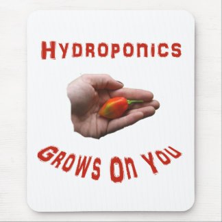 Hydroponics Grows on you Habanero Pepper Hand Mouse Pad