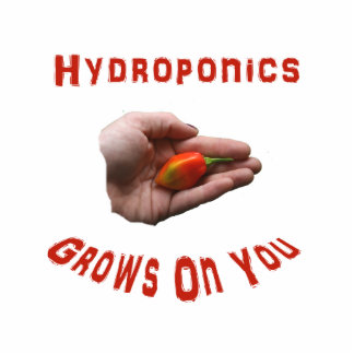 Hydroponics Grows on you Habanero Pepper Hand Acrylic Cut Outs