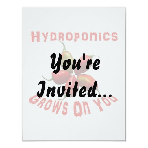 Hydroponics Grows On You habanero star 4.25x5.5 Paper Invitation Card