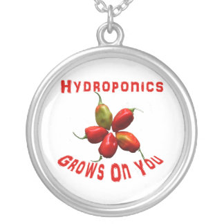 Hydroponics Grows On You habanero star Custom Necklace