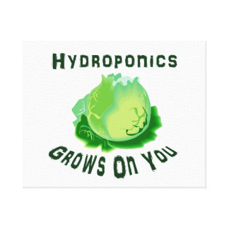 Hydroponics Grows On You Lettuce Canvas Print