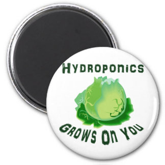 Hydroponics Grows On You Lettuce Refrigerator Magnets