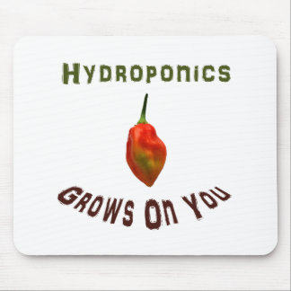 Hydroponics grows on you, single habanero pepper mouse pads