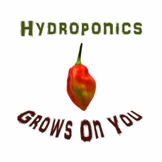 Hydroponics grows on you, single habanero pepper photo cut outs