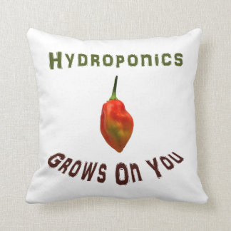 Hydroponics grows on you, single habanero pepper pillow