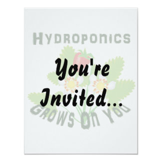 Hydroponics Grows On You Strawberries Card