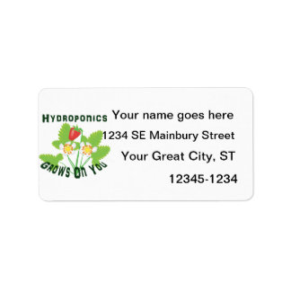Hydroponics Grows On You Strawberries Label
