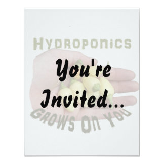 Hydroponics Grows On You White Habanero Card