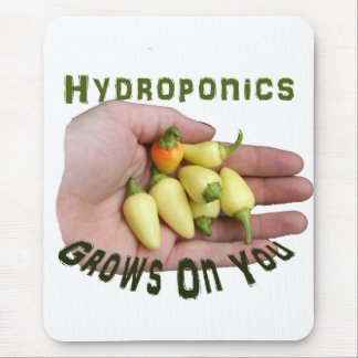 Hydroponics Grows On You White Habanero Mouse Pad