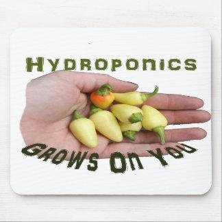Hydroponics Grows On You White Habanero Mousepad