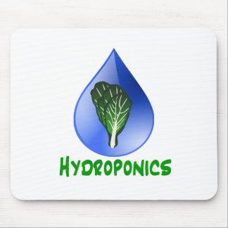 Hydroponics Leaf lettuce blue drop green text Mouse Pad