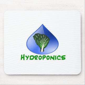 Hydroponics Leaf lettuce blue drop green text Mousepad
