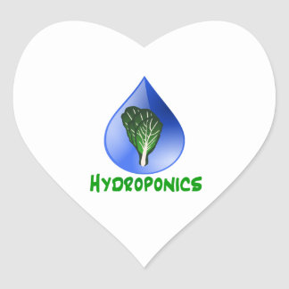 Hydroponics Leaf lettuce blue drop green text Stickers