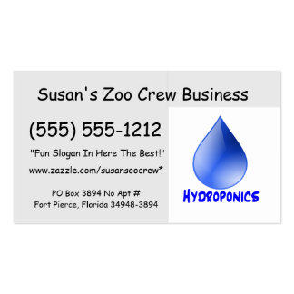 Hydroponics logo water drop and text image business card template