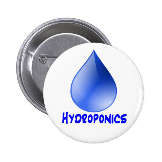 Hydroponics logo water drop and text image buttons