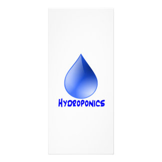 Hydroponics logo water drop and text image personalized rack card
