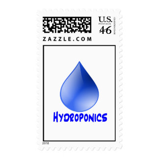 Hydroponics logo water drop and text image stamps