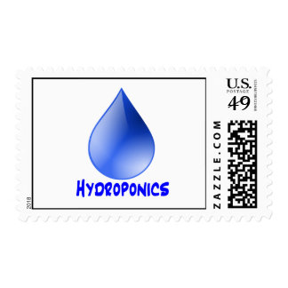 Hydroponics logo water drop and text image postage