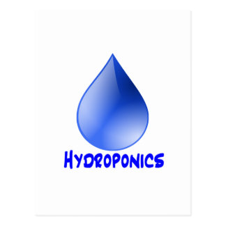 Hydroponics logo water drop and text image postcard