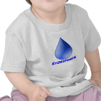 Hydroponics logo water drop and text image t-shirt