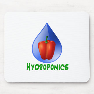 Hydroponics Red bell Pepper green text Mouse Pad