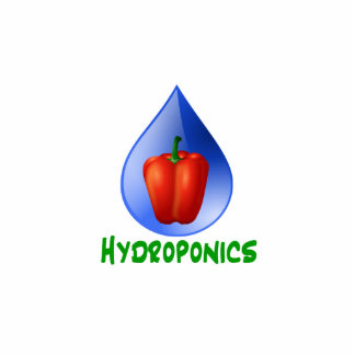 Hydroponics Red bell Pepper green text Photo Cutouts