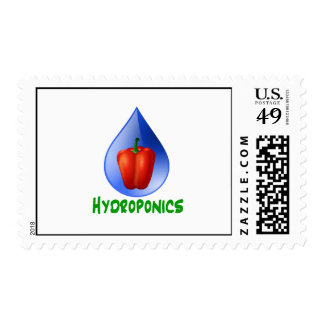 Hydroponics Red bell Pepper green text Postage Stamps