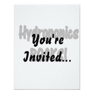 Hydroponics rocks! Black rock text design Card