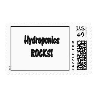 Hydroponics rocks! Black rock text design Stamp