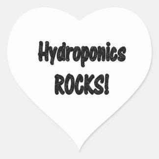 Hydroponics rocks! Black rock text design Stickers