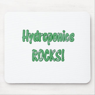 Hydroponics Rocks Green Grass Text Texture Mouse Pad