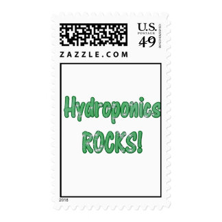 Hydroponics Rocks Green Grass Text Texture Postage Stamp