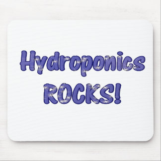 Hydroponics Rocks! Text based cloud water design Mouse Pad