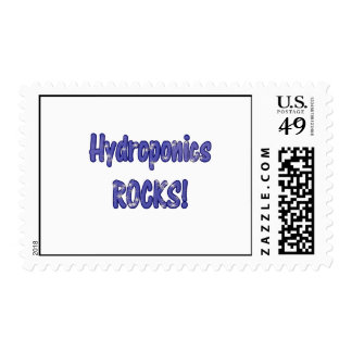 Hydroponics Rocks! Text based cloud water design Stamp