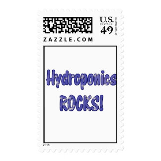 Hydroponics Rocks! Text based cloud water design Stamps