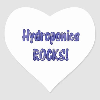 Hydroponics Rocks! Text based cloud water design Stickers